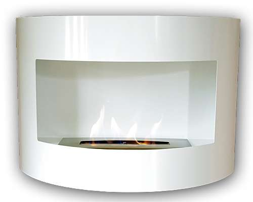 RIVIERA Deluxe White Bio Ethanol Gel Fire Place