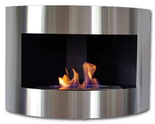 Diana corner fireplace Deluxe Stainless steel