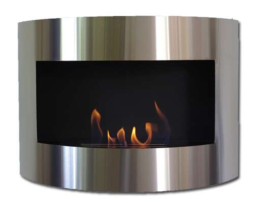 DIANA DELUXE Black Bio-Ethanol Wall fire place