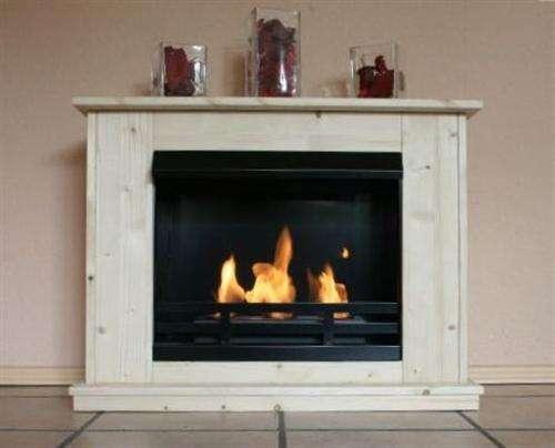 Copenhagen Spruce Natural Ethanol Floor fireplace