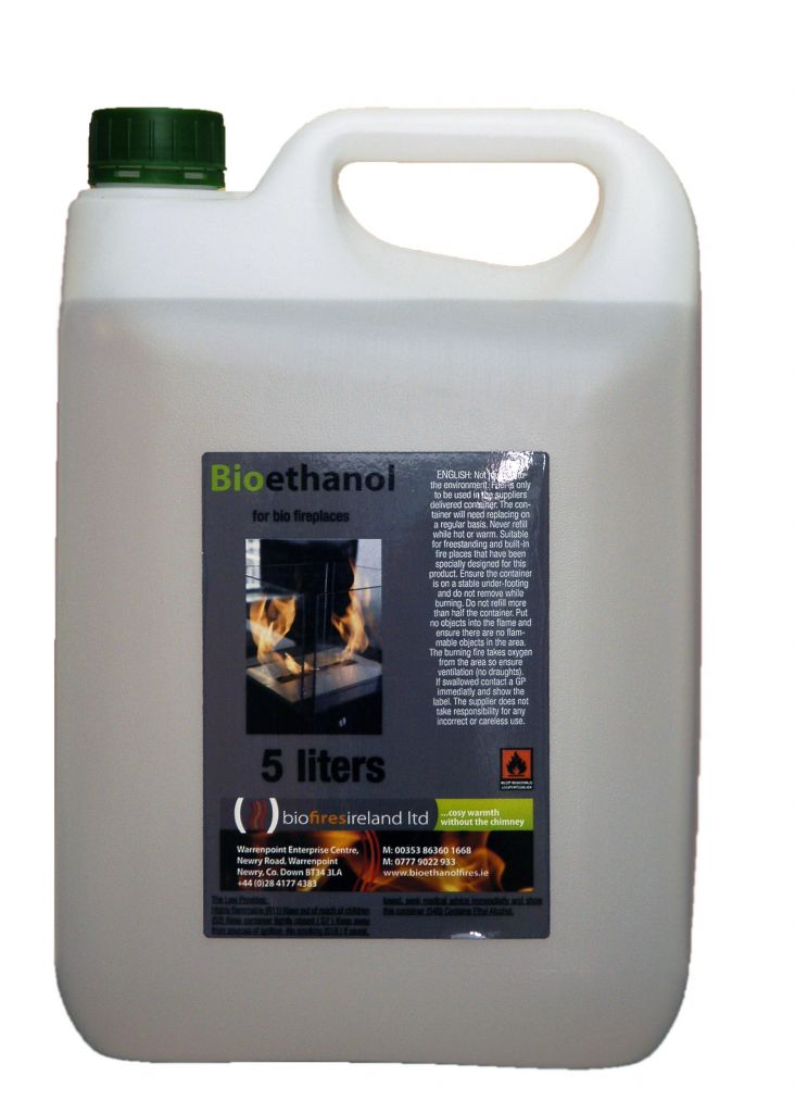 5 X 5L 'Biola' Premium Bioethanol Fuel