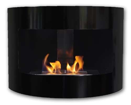 Riviera corner fireplace Deluxe Black