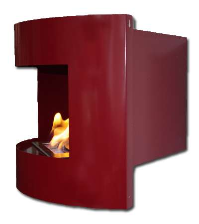 Riviera corner fireplace Deluxe Red