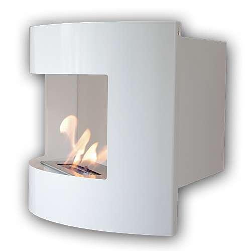 Riviera corner fireplace Deluxe White