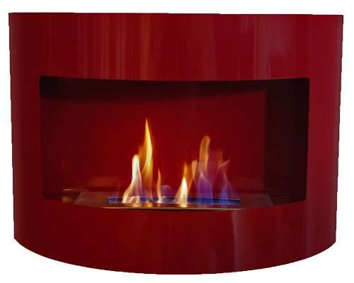 RIVIERA Deluxe Flueless Bio Ethanol Fire Place Red