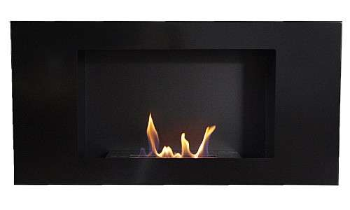 VALENCIA DELUXE Black Bio Ethanol Fire + 1 Adjustable Firebox