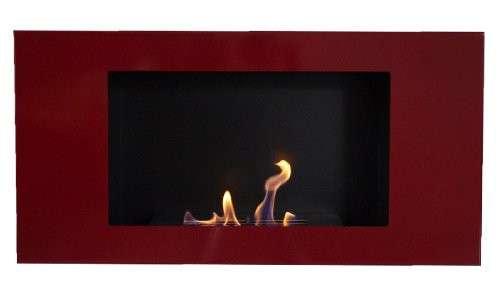 VALENCIA DELUXE Red Bio Ethanol + adjustable Firebox